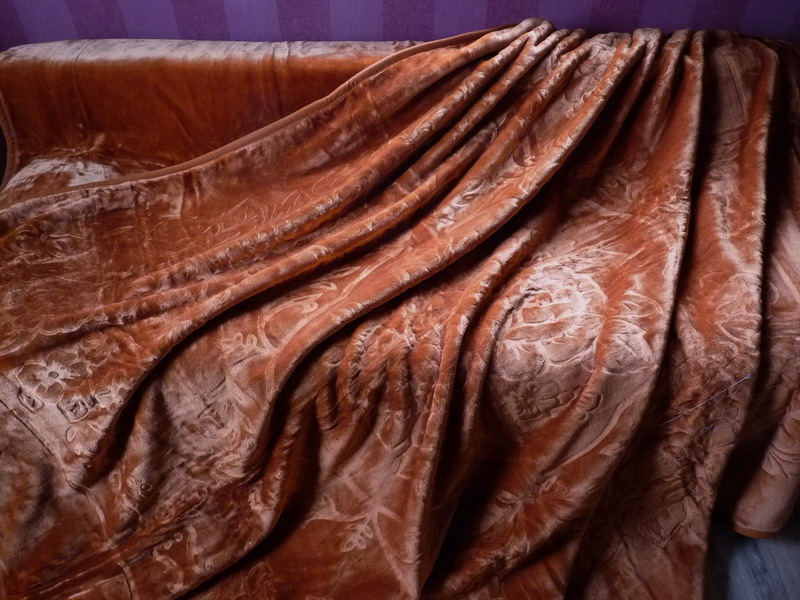 xxl luxus tagesdecke kuscheldecke decke bronze 200x240 ebay. Black Bedroom Furniture Sets. Home Design Ideas