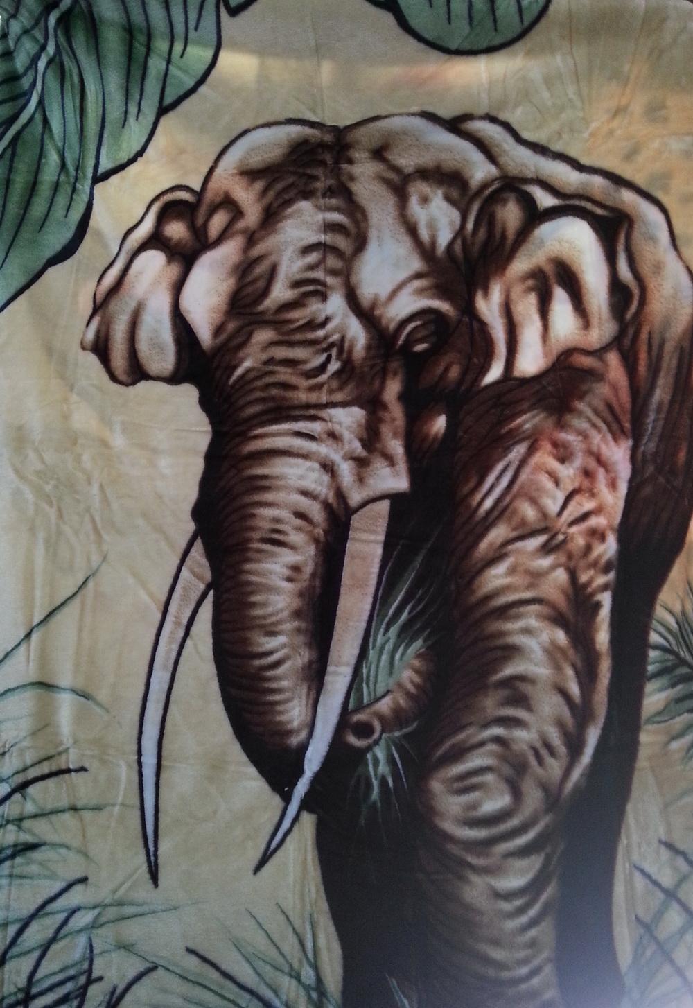 xxl tagesdecke kuscheldecke wohndecke decke motiv elefant 200x240cm wd 116 ebay. Black Bedroom Furniture Sets. Home Design Ideas